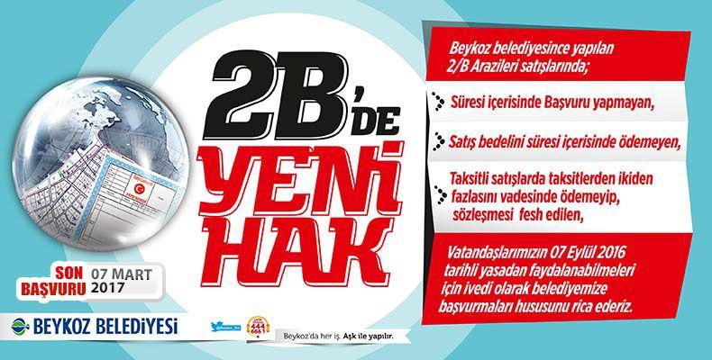 Beykoz Belediyesi 2B Arsa Başvurusu