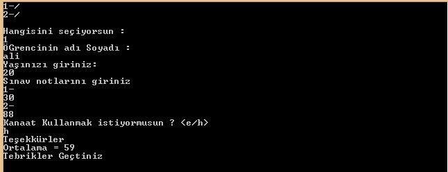 C# Console Uygulamaları Switch Case Yapıları ve For Döngüsü