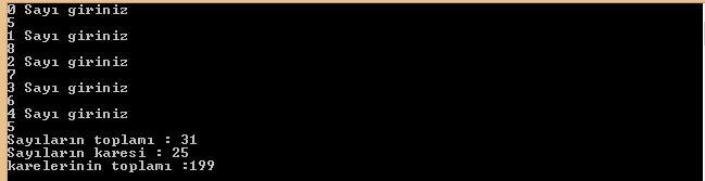 C Sharp Console Uygulamaları Diziler