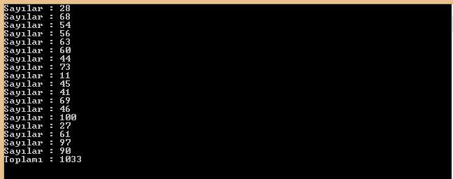 C# Console Uygulamaları While Döngüsü-Program