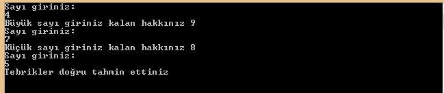 C Sharp Console Uygulamaları Do While
