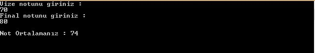 C# Programlama-Vize Final Notu