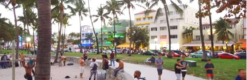 Amerika'nın Rüya Şehri Miami-Ocean Drive