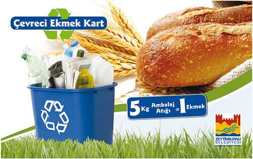 Çöpünü Getir Ekmeğini Götür-Ekmek kartı