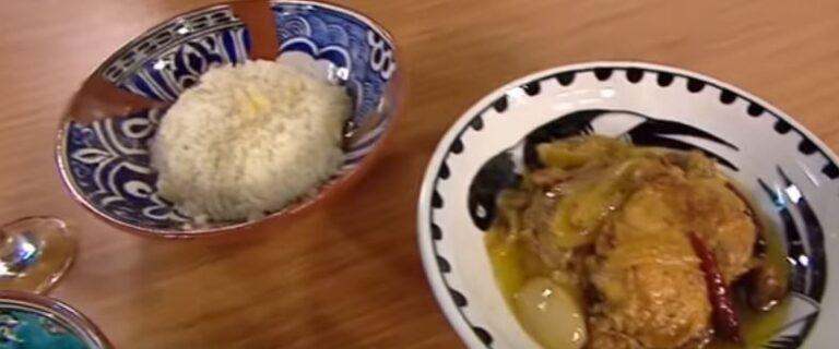Kırma Tavuk Kebabı-Sarımsaklı Pilav