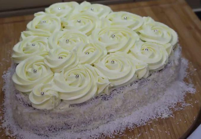 Kalp Şeklinde Lezzetli Pasta Yapımı