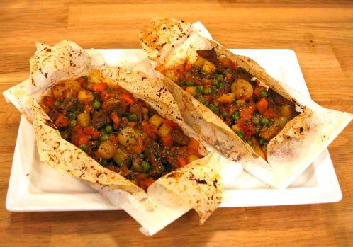 Fırında Etli Kağıt Kebabı Yapımı