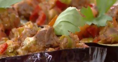 Patlıcanlı Mozzarella Halkası Yapımı