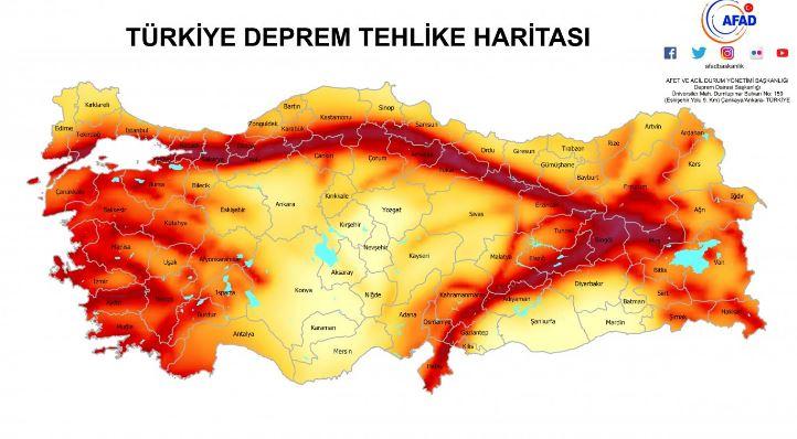 Deprem Tehlike Haritası