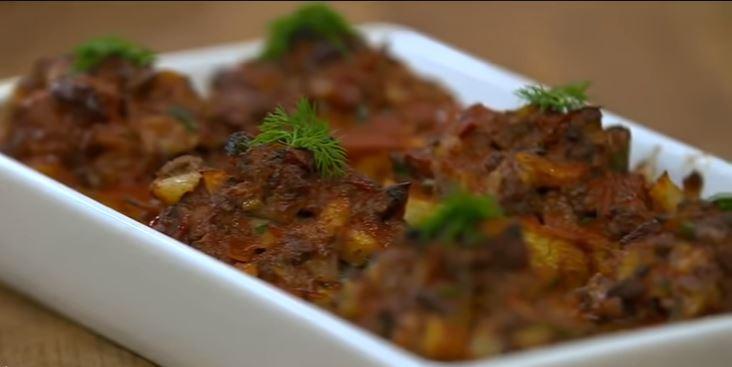 Patatesli Porsiyon Musakka yapımı