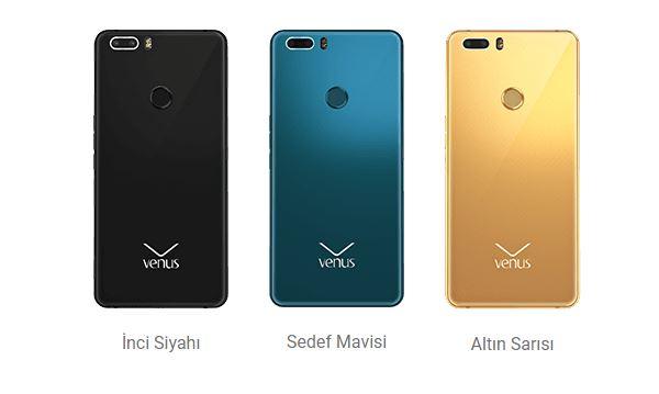 Vestel Venüs Z20 Renkler