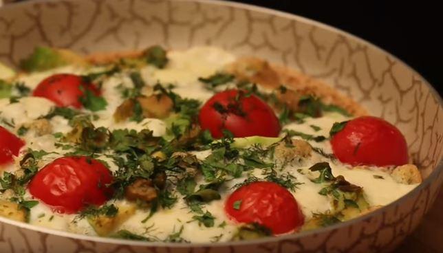 Avokadolu Beyaz Omlet yapımı