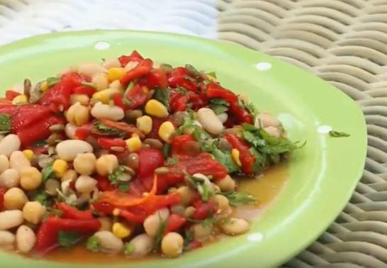 Kuru Baklagil Salatası yapımı