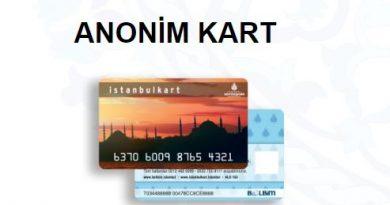 Anonim Kart-İstanbul Kart Özellikleri