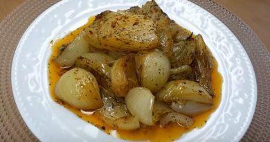 Fırında Pişmiş Soğan Salatası tarifi