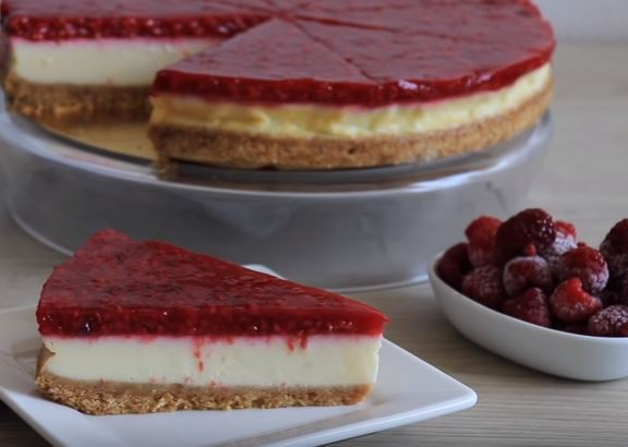 Frambuazlı Cheesecake yapımı