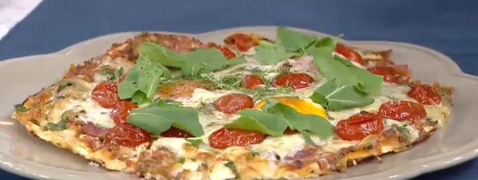 Baharatlı Kahvaltı Pizzası yapımı