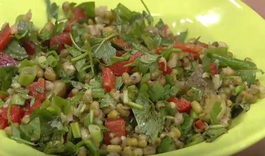 Maş Fasulyesi Salatası yapımı