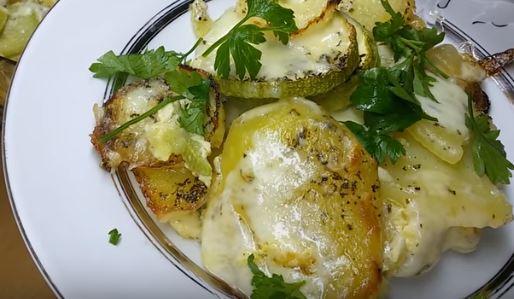 Kabaklı Patates Graten tarifi
