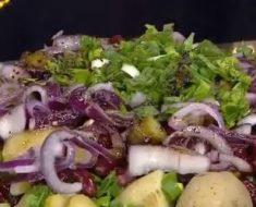 Meksika Fasulyeli Patates Salatası Yapımı