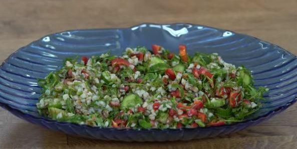 Narlı Karabuğday Salatası Yapımı