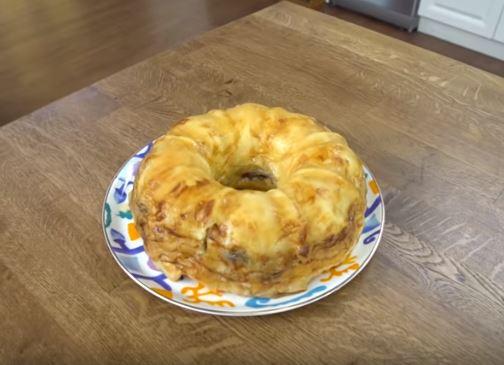 Patlıcanlı Kıymalı Simit Börek Yapımı
