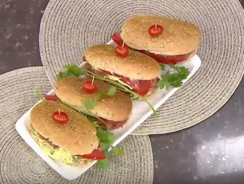 Sebze Burger Yapımı