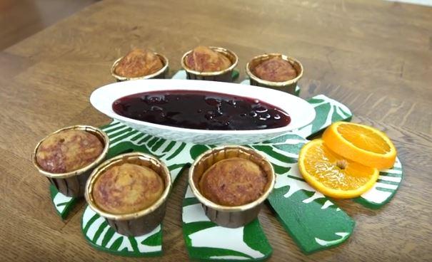 Vişne Reçelli Muffin Yapımı