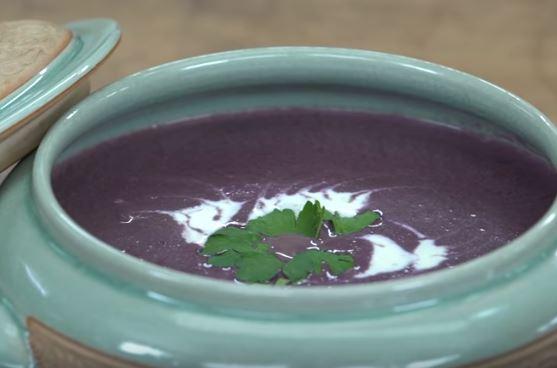 Kremalı Mor Havuç Çorbası Yapımı