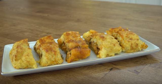 Sebzeli Tavuklu Rulo Patates Yapımı