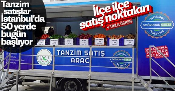 İstanbul Tanzim Satış Noktaları-Sebze ve Meyve Satışları