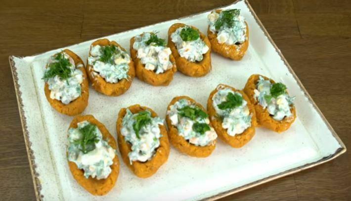 Patatesli Mercimekli Mısır Sandalı Salatası Tarifi