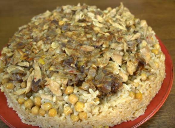 Sarımsaklı Tavuklu Pirinç Pilavı Yapımı