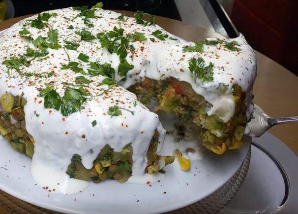 Yeşil Mercimekli Patates Salatası Yapımı
