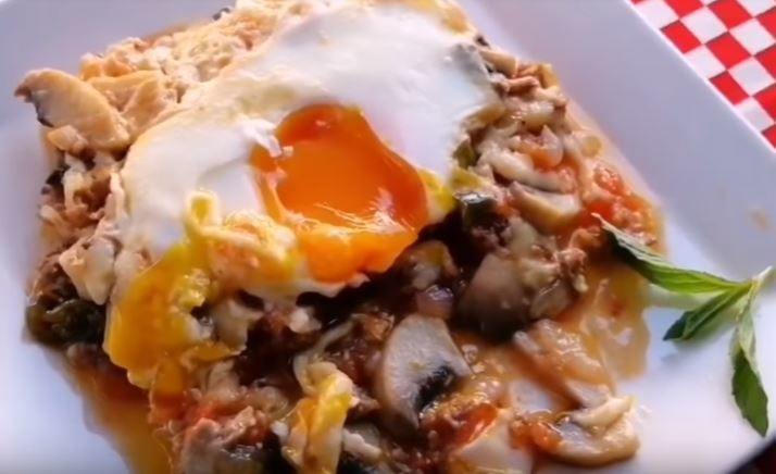 Kıymalı Mantarlı Yumurta Yapımı
