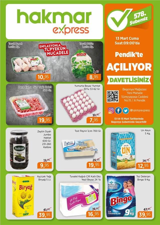Hakmar 13 Mart 2020 İstanbul Pendik Açılış İndirimleri