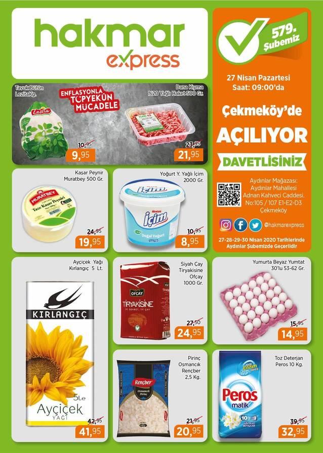 Hakmar 27 Nisan 2020 İstanbul Çekmeköy Açılış İndirimleri