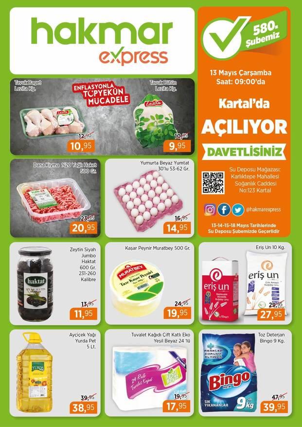 Hakmar 13 Mayıs 2020 İstanbul Kartal Açılış İndirimleri