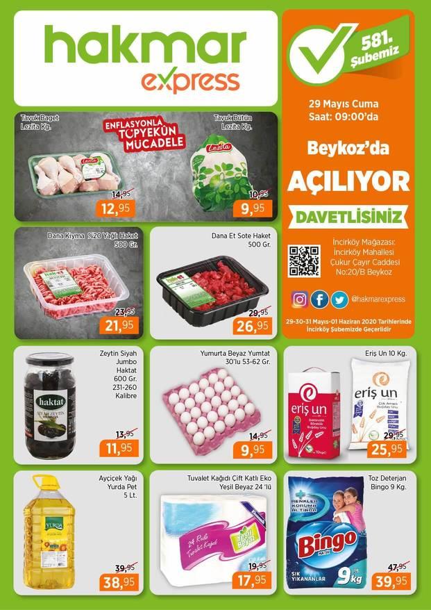 Hakmar 29 Mayıs 2020 İstanbul Beykoz Açılış İndirimleri