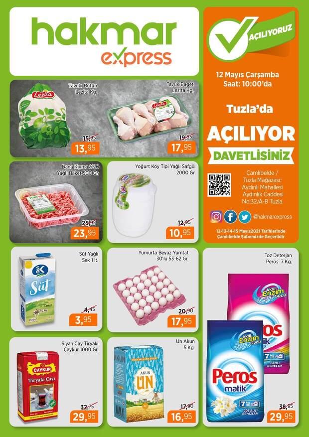 Hakmar 12 Mayıs 2021 İstanbul Tuzla Açılış İndirimleri