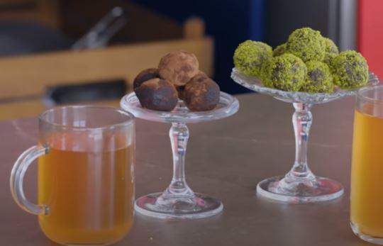 Ara Öğün: Meyveli Bitki Çayı ve Enerji Topları