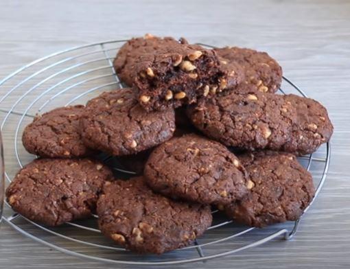 Çikolatalı Fındıklı Cookies Yapımı