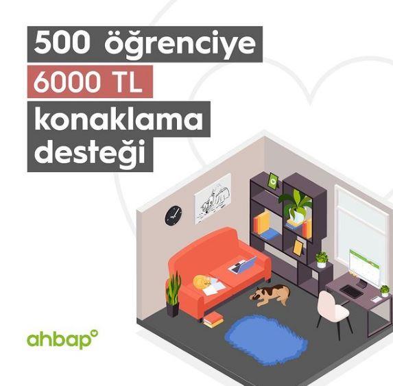 Ahbap Derneği 500 Öğrenciye 6000 TL