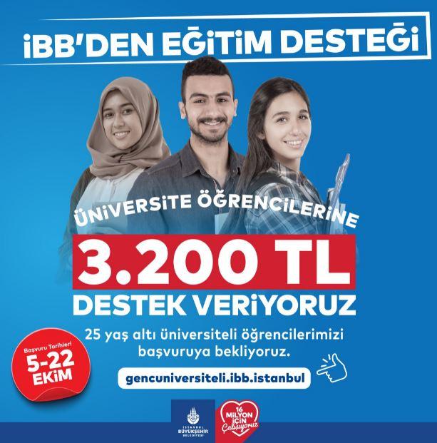 İstanbul Büyükşehir Belediyesi Üniversite Öğrencilerine